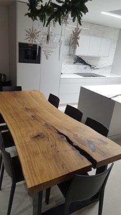 Stół dębowy, monolit, industrialny 3DESKI - #liveedge, #oaktable #table