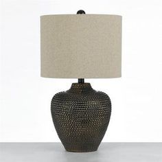 Af Lighting Angelo Home 22.5-In Brown 3-Way Switch Table Lamp With Fabric Shade 8559-Tl
