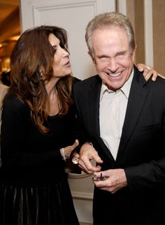Actress Jo Champa w/ Warren Beatty who thanked the walls for not talking at Beverly Hills Hotel 100th Anniversary Celebration