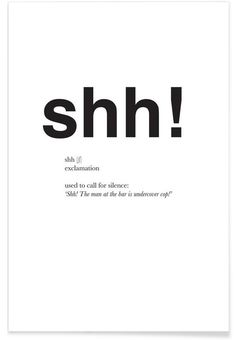 The shh interjection als Premium Poster von Matěj Kašpar Jirásek   JUNIQE