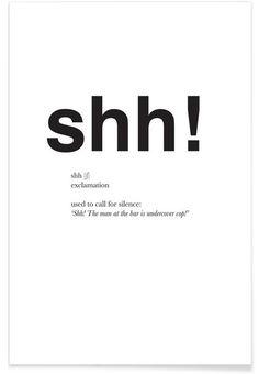 The shh interjection als Premium Poster von Matěj Kašpar Jirásek | JUNIQE