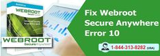 To know How to Fix Webroot Secureanywhere Error Code 10 study this blog for right method or contact at 1-844-313-8282 for online help. The step-by-step troubleshooting process explained by experts to fix Webroot Error Code 10 with nonstop online tech support to resolve the Webroot Secureanywhere antivirus problems.