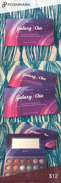 BH Cosmetics Galaxy Chic Palette BRAND NEW BH Cosmetics 18 color baked eyeshadow palette. Contains both neutrals & vibrant colors. Highly pigmented. Can be used wet or dry BH Cosmetics Makeup Eyeshadow