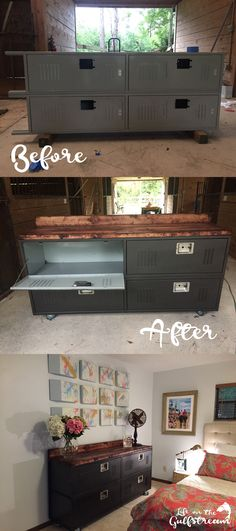 Locker Repurposed to Dresser DIY Tutorial   Life on the Gulfstream