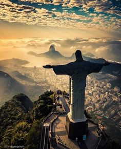 Cristo Redentor statue of Jesus Christ at the summit of Mount Corcovado Rio de Janeiro Brazil. Photo by . Best Places To Travel, Best Cities, Places To Go, Visit Brazil, Voyager Loin, Christ The Redeemer, Jesus Christ, Brazil Travel, Destination Voyage