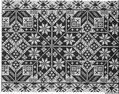 Cross Stitch Borders, Cross Stitch Charts, Cross Stitch Embroidery, Blackwork, Repeating Patterns, Hand Knitting, Needlework, Weaving, Monochrome