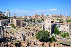 O Fórum Romano fica entre o Palatino e o capitólio. Essa grande área era o centro da vida política social e econômica da Roma antiga. Hoje restam apenas ruínas que dão idéia de quão ricas e magníficas eram essas construções!  #historia #fantastico #ruinas #forumromano #fororomano #roma #amazing #italia #italy
