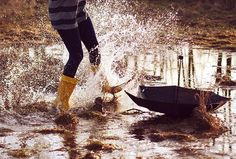 Who didn't love jumping in puddles when they were a kid? Wishing for those days. There was beauty in the simplicity of life back then.