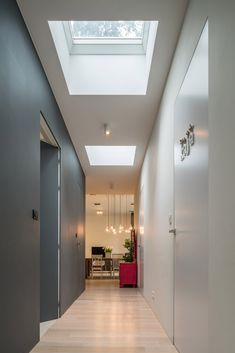 Transform your home with FAKRO flat roof windows! Flat Roof House Designs, Flat Roof Design, House Extension Design, Modern Skylights, Flat Roof Skylights, Skylight Bedroom, Skylight Design, Roof Lantern, Roof Window