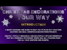 Christmas Decorations Your Way Introduction - YouTube