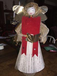 Vintage Christmas Angel Large Tree Topper Center Piece RETRO