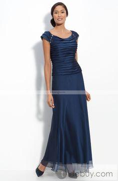 Mother of the Bride Dresses Tea Length | ... Tea-Length Round-Neckline Mother Of The Bride Dress online | Dressesgo