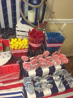 Nautical candy buffet