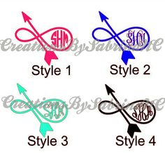 Monogram would be TNT > Follow Your Arrow Decal With Monogram by CreationsBySabrinaNC