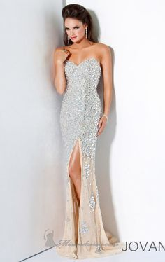 LOVE this gown! needs sleeves that match the bottom of the dress though