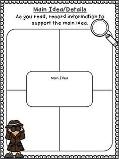 This graphic organizer may save you time. Add the main idea to the center box and have your students find the appropriate supporting details or have your students complete all five boxes. It's up to you. Enjoy!