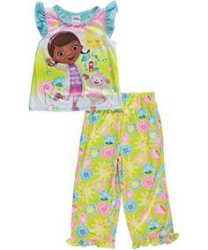 "ab7c52ece0 Doc McStuffins Little Girls  Toddler ""Sunny Day"" 2-Piece Pajamas (Sizes"
