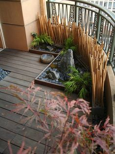 Unique Bamboo Covering for Balcony
