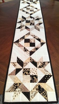 SALE Modern Table Runner Quilt Wall Hanging by MapleCottageDesigns