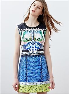 Printed A-Line Dress Daytime Dresses, Dresses For Work, Printed, Blouse, Color, Beautiful, Collection, Tops, Women