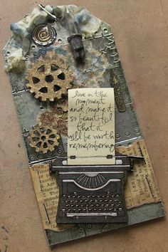 Tag: slip of paper to pull out of typewriter? hmmm...this gives me ideas.