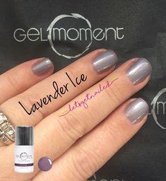 GelMoment Lavender Ice DIY gel manicure Gel Nail Colors, Gel Nail Art, Gel Manicure, Mani Pedi, Diagonal Nails, Get Nails, Nail Art Designs, Lavender, Make Up