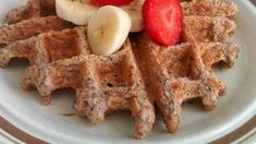 Multigrain chia seed waffles made with oats and whole wheat flour (replace with Spelt or GF flour) are a hearty way to start the day. Waffle Recipe Allrecipes, Waffle Maker Recipes, Dinner Recipes For Kids, Kids Meals, Baby Meals, Flax Seed Recipes, Unsweetened Applesauce, Multigrain, Breakfast Recipes