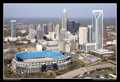 Charlotte Skyline with Bank of America Stadium by Bill Cobb SkylineScenes, via Flickr
