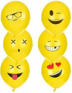 - - - EMOJI... BIRTHDAY THEME‼️‼️‼️ Party Emoji, Birthday Souvenir, Cute Images For Dp, Fiesta Party, Smiley, Party Invitations, Balloons, Diy, Girls