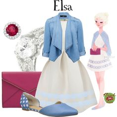 Punziella: Elsa by merahzinnia on Polyvore featuring Forever New, BC Footwear, Rebecca Minkoff, Tressa and Allurez
