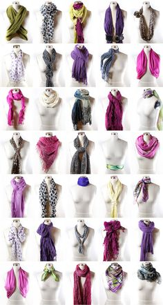 Want to learn how to wear a scarf? Learn ways to tie a scarf from the experts here at Scarves Dot Net! Learn and Shop Head Scarves to Infinity Scarves! Fashion Advice, Diy Fashion, Fashion Beauty, Autumn Fashion, Fashion Outfits, Womens Fashion, Fashion Sewing, Ways To Tie Scarves, Ways To Wear A Scarf