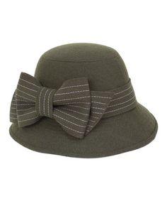 Another great find on #zulily! Olive Stripe Bow Tie Wool-Blend Bucket Hat by Magid #zulilyfinds