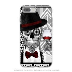 Art Deco Sugar Skull - Artistic iPhone 7 PLUS Tough Case - Dual Layer Protection - Mr JD Vanderbone