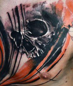 Abstract Skull Tattoo by Timur Lysenko? English Tattoo, Tattoo Photos, Tattoo Designs, Skull, Artist, Abstract Tattoos, Painting, Skulls, Artists