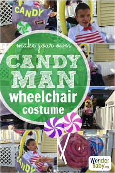 Here is our DIY instructions for making a Willy Wonka inspired candy man wheelchair costume. Fun Fall Activities, Creative Activities, Halloween Kids, Halloween Crafts, Kids And Parenting, Parenting Hacks, Wheelchair Costumes, Sensory Games, Social Anxiety Disorder