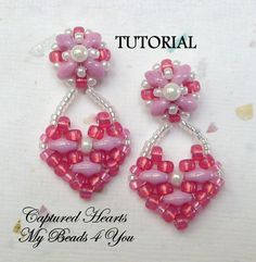 PDF Tutorial Beaded Earrings SuperDuo Tutorial Seed by mybeads4you, $6.00