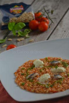 La Cucina di Stagione: Risotto ai pomodori confit, pesto leggero, alici e...