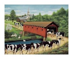 Cows in West Arlington Prints by Lowell Herrero at AllPosters.com