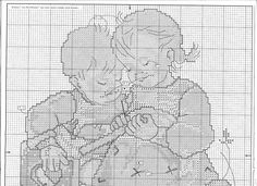 "MODIFIED. ""Brother's Lesson"" Hummel cross stitch pattern - 2A"