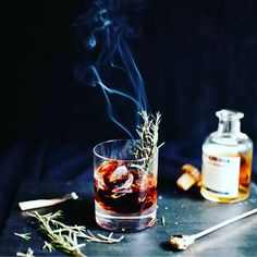 Perfect cocktail for Fall | Charred rosemary, Smoky Mezcal