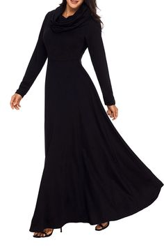 online shopping for AlvaQ Women's Casual Loose Long Sleeve Cowl Neck Plain Pleated Maxi Dress from top store. See new offer for AlvaQ Women's Casual Loose Long Sleeve Cowl Neck Plain Pleated Maxi Dress Long Sleeve Maxi, Maxi Dress With Sleeves, Dress Up, Dress Casual, Women's Casual, Maxi Dresses, Casual Outfits, Black Cow, Swing Dress
