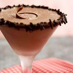 Chocolate ice cream, Irish cream liqueur, and dark cream de cacao make this frosty cocktail a chocolate-lover's dream! Get the recipe here: http://www.bhg.com/recipe/appetizers-snacks/chocolate-blitzen/?socsrc=bhgpin010415chocolateblitzen&page=1
