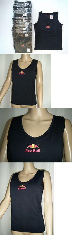 Shirts Tops 50990: Nwts Lot Of 15 Red Bull Sz L Navy Blue V-Neck Shelf Bra Tank Logo Frt And Back -> BUY IT NOW ONLY: $60.45 on eBay!