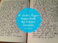 A Lenten prayer: pages from my prayer journal