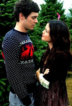 i guess i would love the holidays if i were  picking out a christmakuh tree with seth cohen...