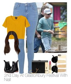 """»2nd Day At Glastonbury Festival With Niall."" by storyofmylife1danita-scream on Polyvore featuring NoSoX, Topshop, Monki, Casetify, Mulberry and Yves Saint Laurent"