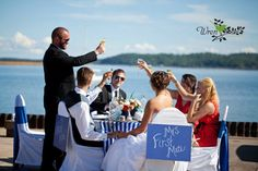 Nautical Wedding on Lake Superior  www.knotsandkissesevents.com I Do Events and Weddings Floral Design Sarah Balding