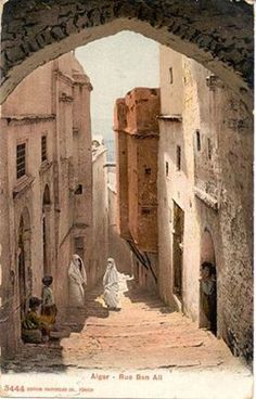 (Algeria) The streets of the Skorpna capital Beau Site, Arabian Art, City Streets, North Africa, Islamic Art, Old Pictures, Arches, The Dreamers, Beautiful Places