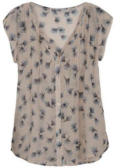 Merch Blog; don't know why, but this blouse reminds me of poor, doomed Ophelia. Love the delicate, watery florals.
