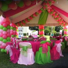* Balloons  Plastic Table Runners Inexpensive yet Big on Effect! By just having a couple of colors for your theme also creates major impact.
